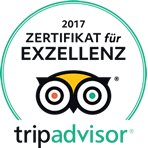 Zertificate for Excellence on Tripadvisor